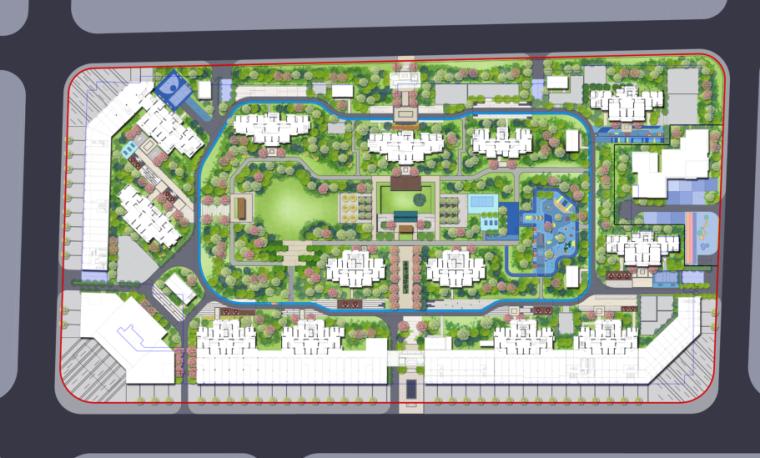 [武汉]蓝光·汉南雍锦天府大区景观深化方案-1-总平面图