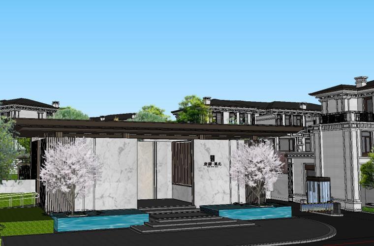 重庆沙坪坝知名企业开元别墅区+景观模型 (2)