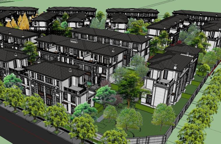 重庆沙坪坝知名企业开元别墅区+景观模型 (5)