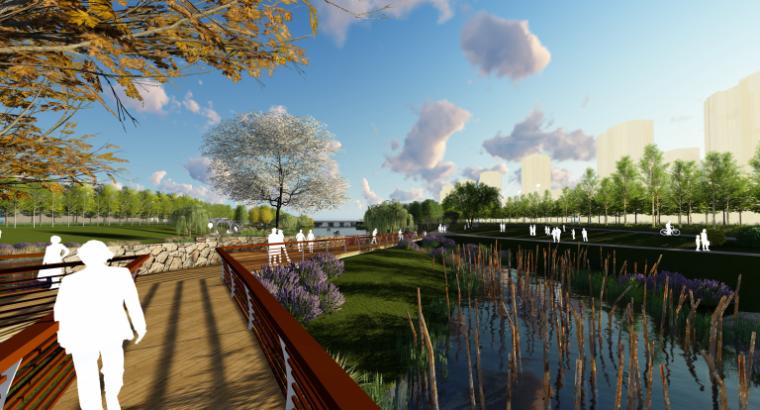 [山东]烟台黄金河河滨公园景观方案设计-生态驳岸景观