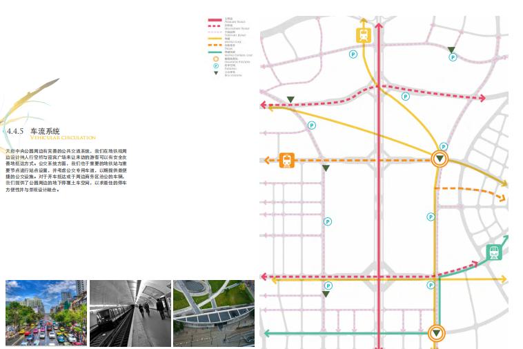 [四川]成都天府中央公园概念方案设计SWA-车流系统