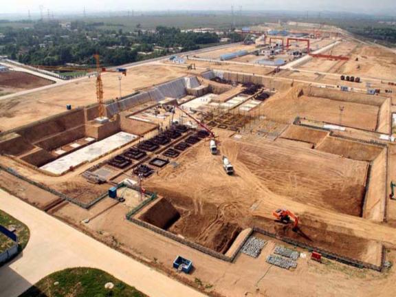土木工程施工-第2讲-土方工程施工要点-基坑施工全景图