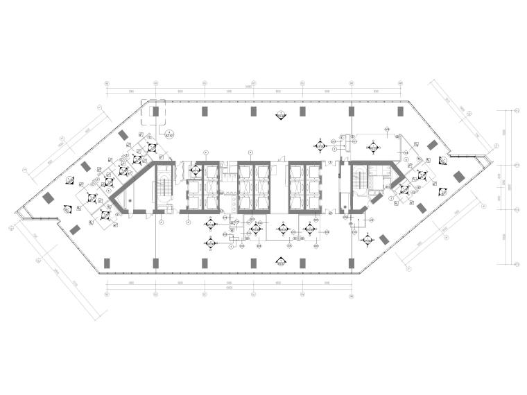 [北京]4000㎡特斯拉总部办公空间设计施工图-7F立面索引图