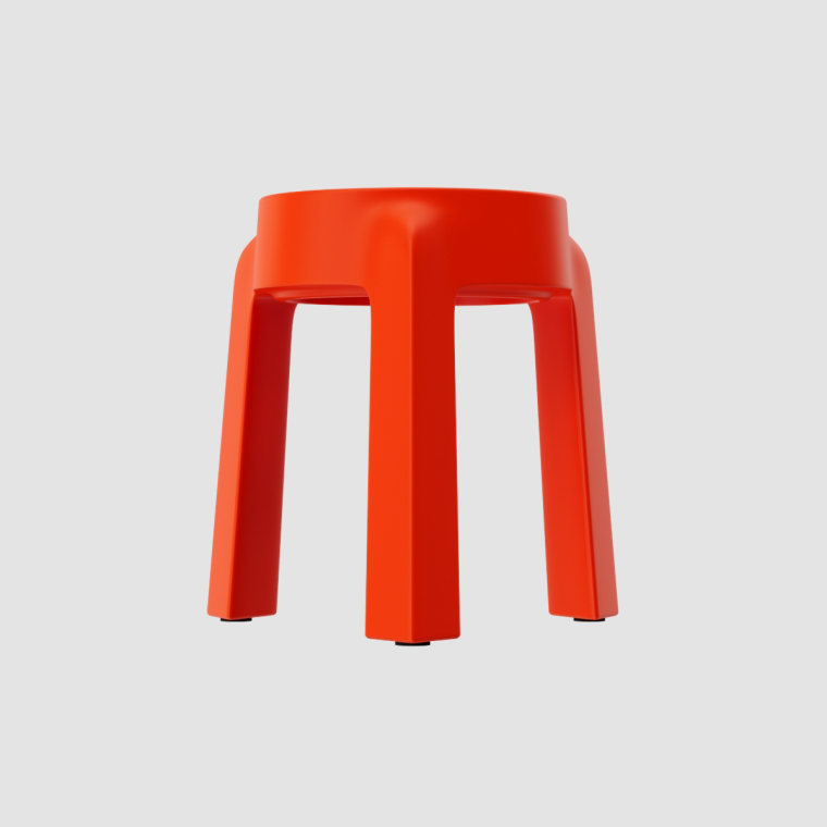 多姿多彩的UFO塑料堆叠凳设计实景图