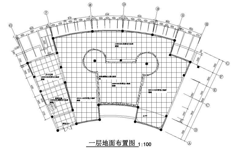 花鼓嘉年华灯场馆施工图设计-一层地面布置图