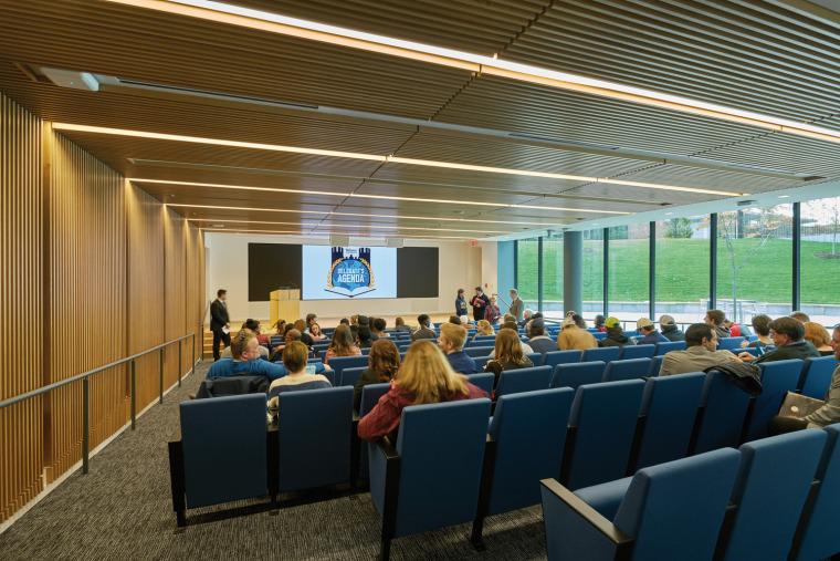 美国韦伯斯特大学布朗宁厅跨科学大楼内部实景图2