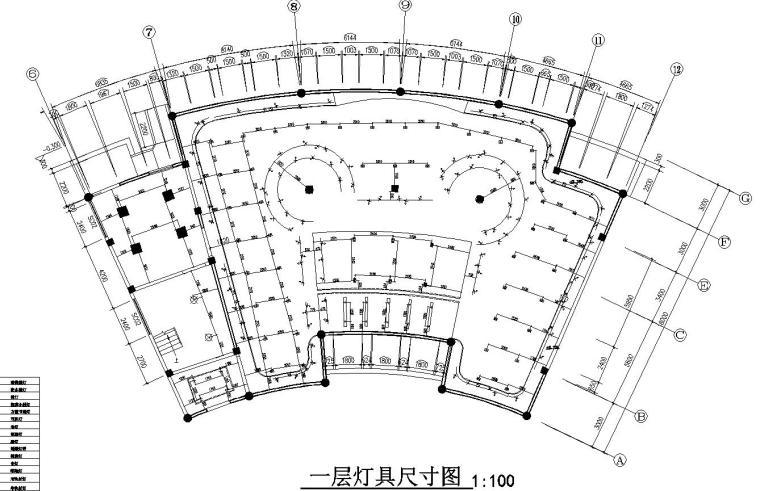 花鼓嘉年华灯场馆施工图设计-一层定居尺寸图