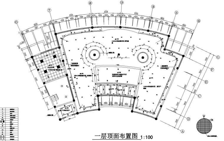 花鼓嘉年华灯场馆施工图设计-一层顶面布置图