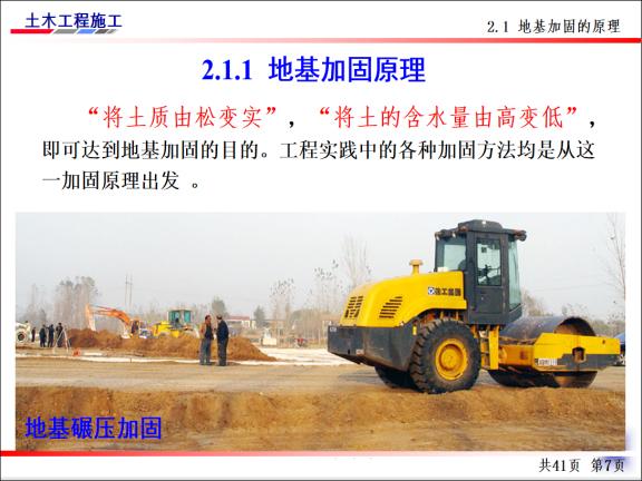 土木工程施工-第4讲-基坑验槽及地基加固处-地基加固原理