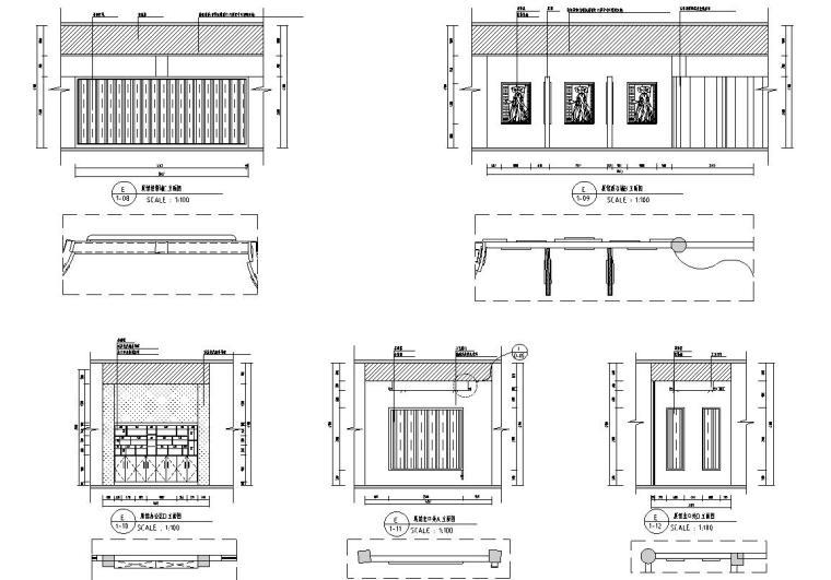 花鼓嘉年华灯场馆施工图设计-展柜立面图