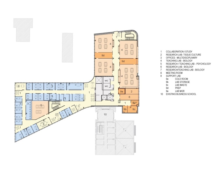 美国韦伯斯特大学布朗宁厅跨科学大楼平面图2