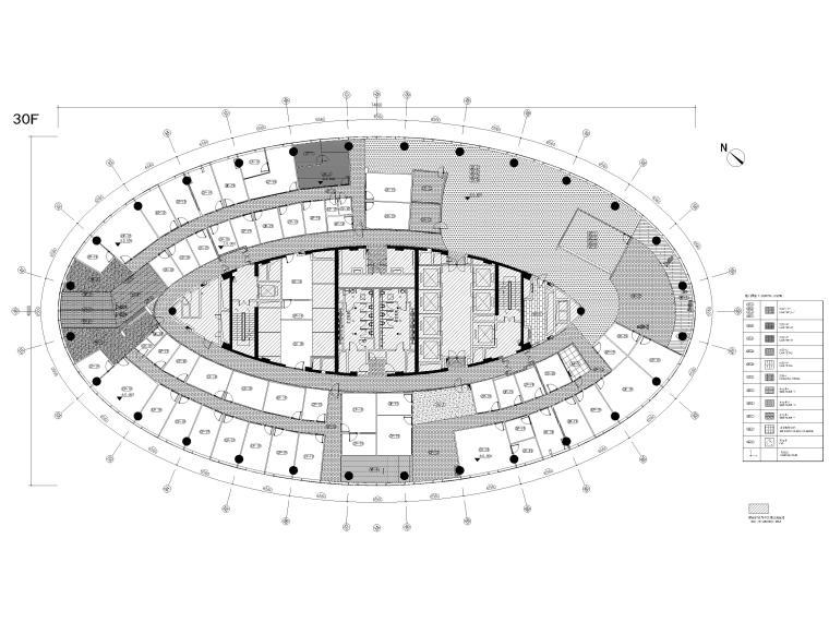 [广州]雅居乐中心4700㎡联合办公空间施工图-31层地面铺装图