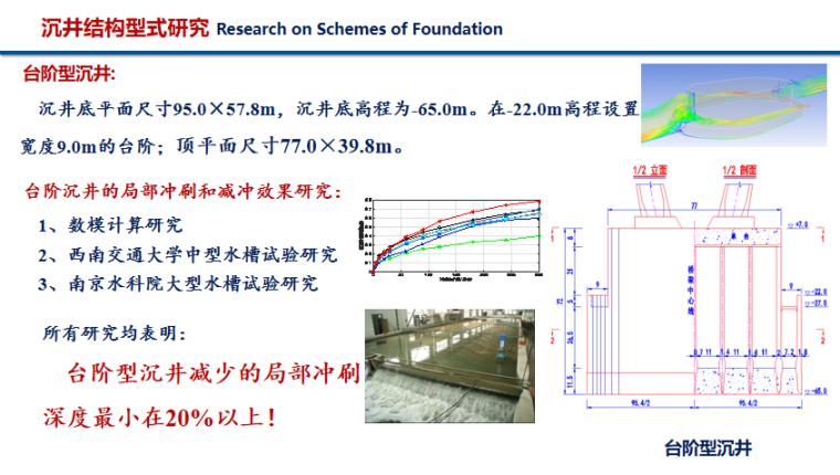 超大跨度斜拉桥结构与结构体系PPT(51页)-台阶型沉井