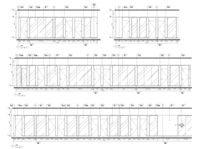 [广州]雅居乐中心4700㎡联合办公空间施工图-办公区立面图