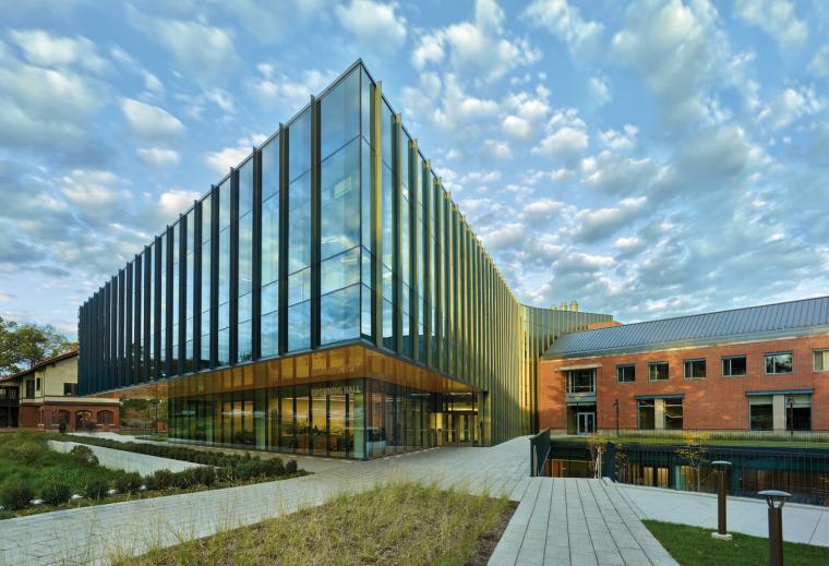 美国韦伯斯特大学布朗宁厅跨科学大楼外部实景图1