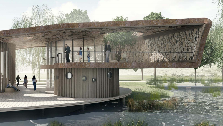 [广东]深圳河川整治与滨水景观设计改造-自然教室效果图