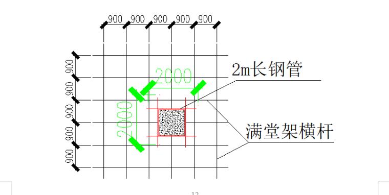 4层框架结构商业楼高架支撑模板施工方案-02 架体拉结点设置