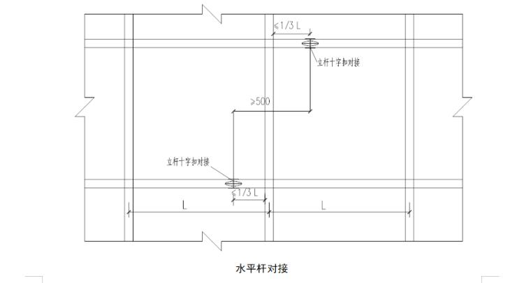 4层框架结构商业楼高架支撑模板施工方案-05 水平杆对接