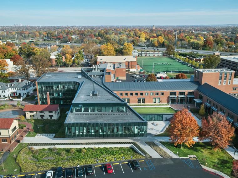 美国韦伯斯特大学布朗宁厅跨科学大楼外部实景图7