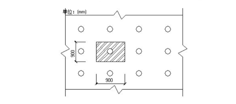 4层框架结构商业楼高架支撑模板施工方案-07 楼板支撑架荷载计算单元