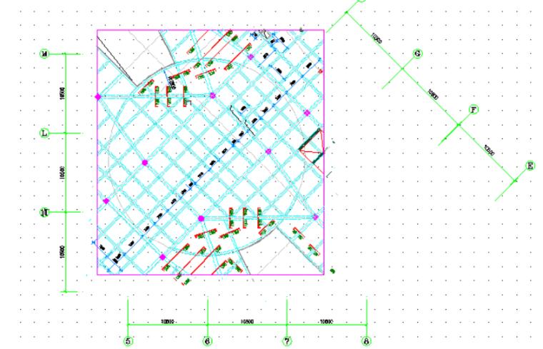 4层框架结构商业楼高架支撑模板施工方案-10 高支模区域图