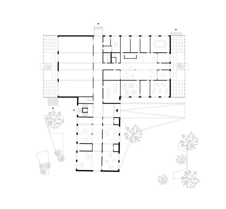奥地利布泽·沃尔夫特小学平面图3