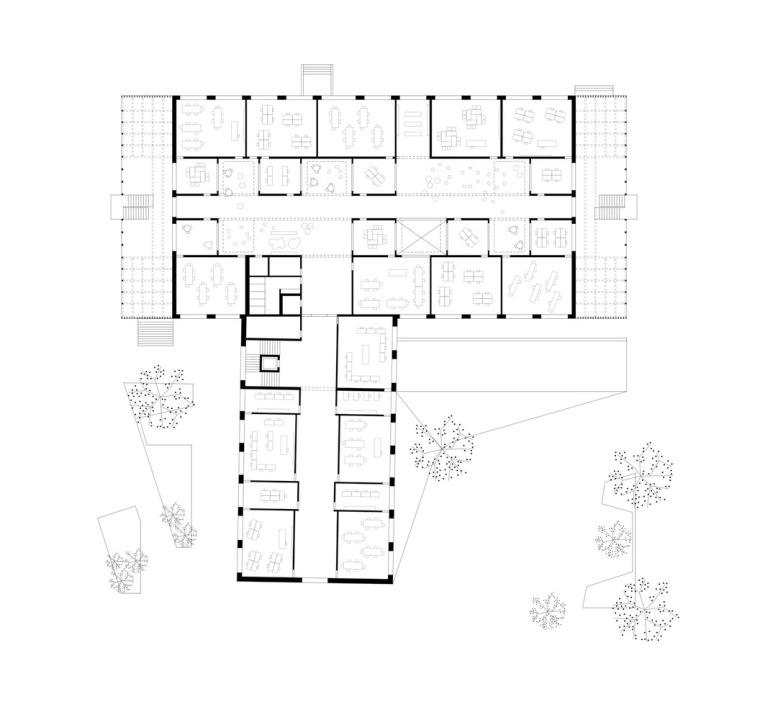 奥地利布泽·沃尔夫特小学平面图2