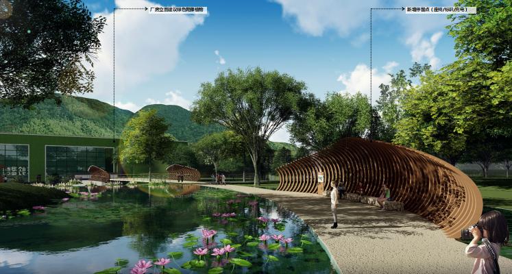 [广东]深圳河川整治与滨水景观设计改造-森林游径效果图