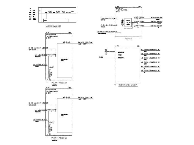 [贵州]某饲料公司厂房电气图纸(2019)-5配电箱系统图