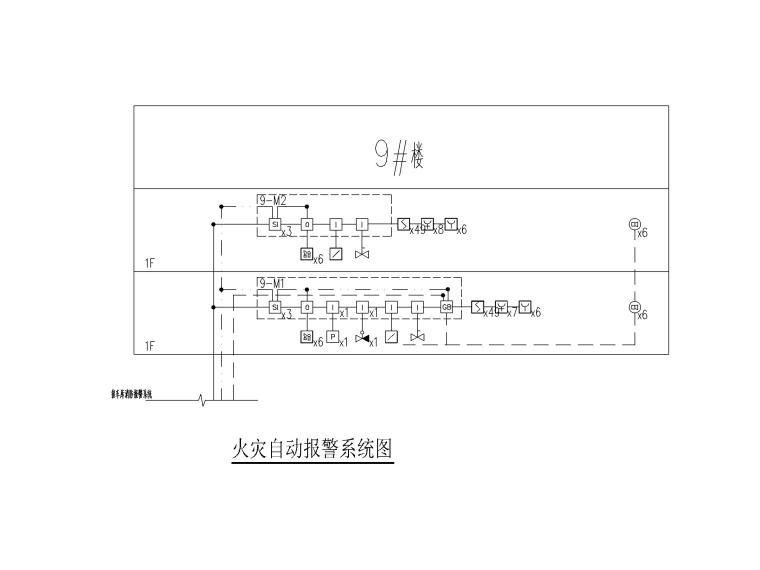 [贵州]某饲料公司厂房电气图纸(2019)-6火灾自动报警系统图