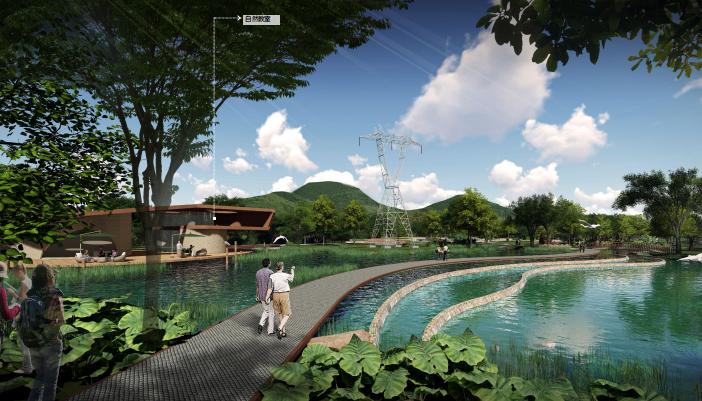 [广东]深圳河川整治与滨水景观设计改造-湿地公园