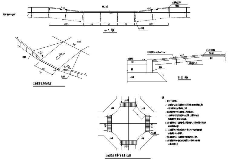 大桥桥梁段道路工程施工图设计2019-无障碍设计及盲道设计图