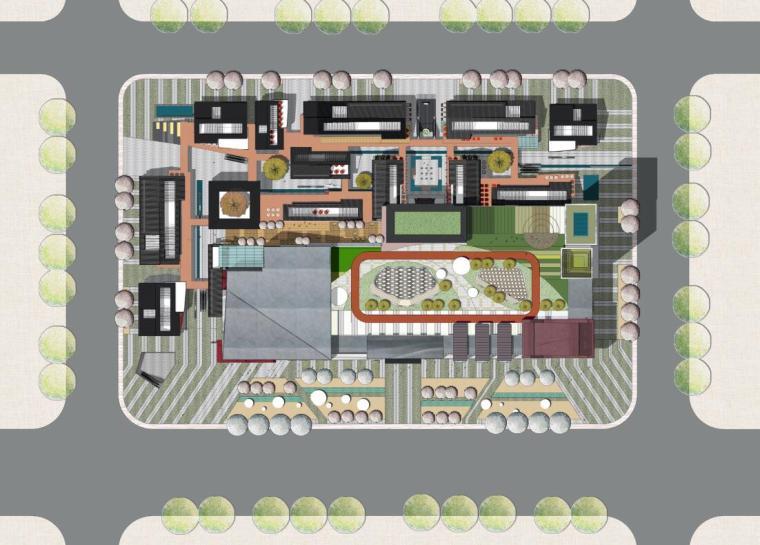 四川新中式多功能复合商业综合体建筑方案-中南活力源