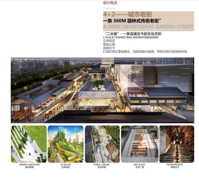 四川新中式多功能复合商业综合体建筑方案-城市老街