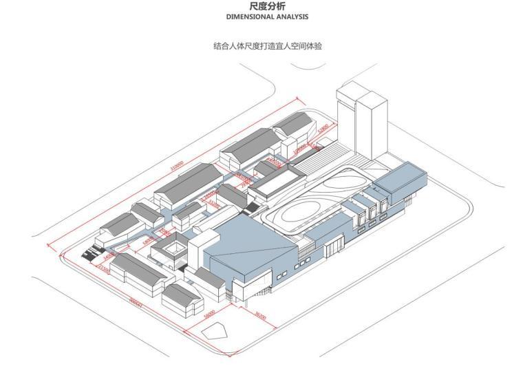 四川新中式多功能复合商业综合体建筑方案-尺度分析
