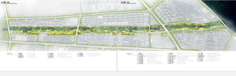 [山东]烟台生态河道滨河公园景观设计方案-总平面图