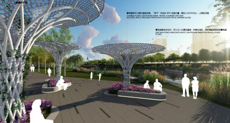 [山东]烟台生态河道滨河公园景观设计方案-广场效果图