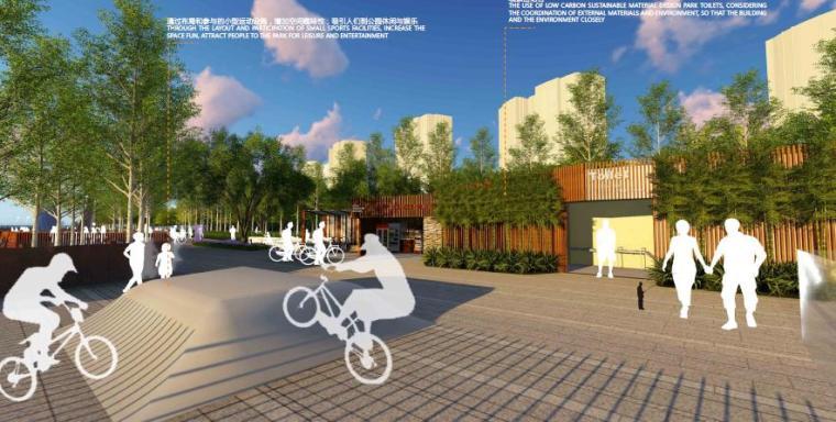 [山东]烟台生态河道滨河公园景观设计方案-入口区景观效果图