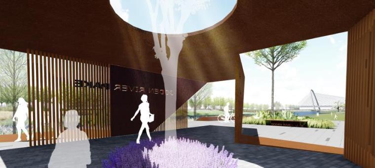 [山东]烟台生态河道滨河公园景观设计方案-浪漫新生活体验区效果图2