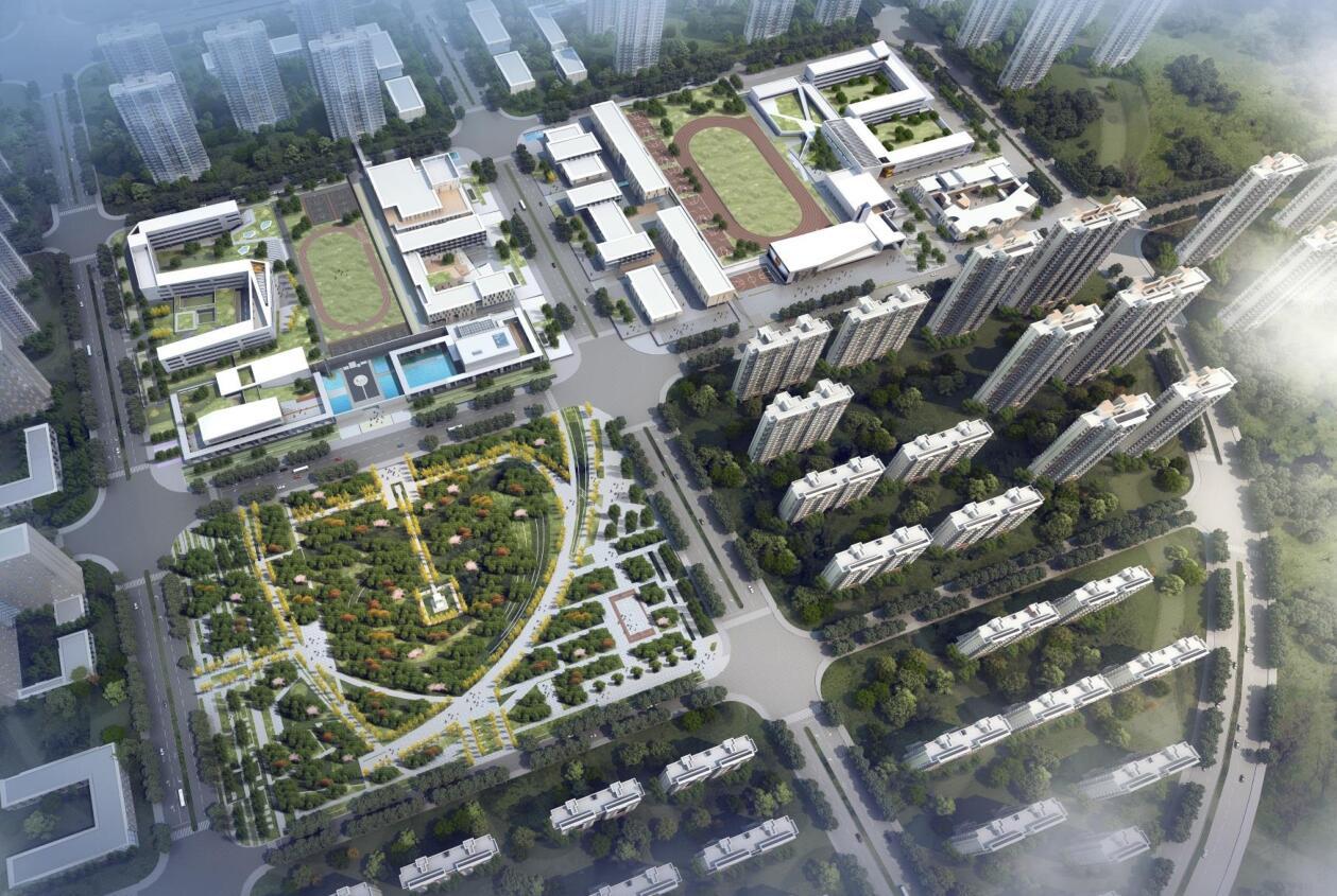 [安徽]合肥现代风格中小学规划建筑方案