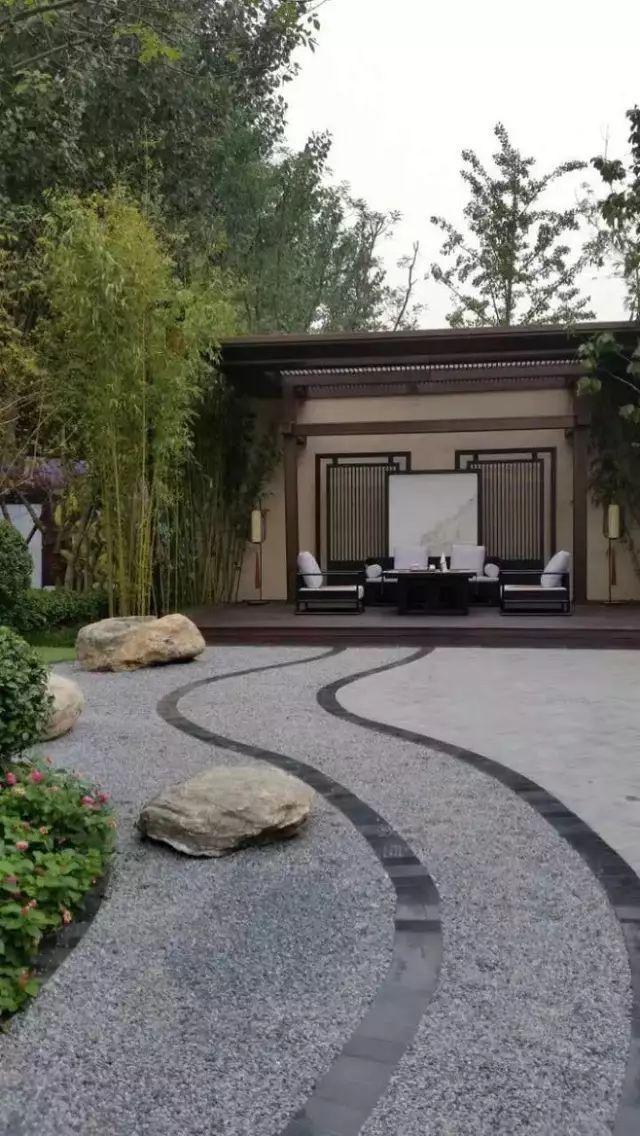 中式庭院铺装,美!_1