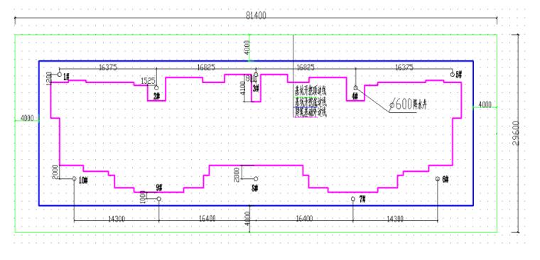 18层框剪结构住宅楼基坑降水施工方案-02 基坑降水布置示意图