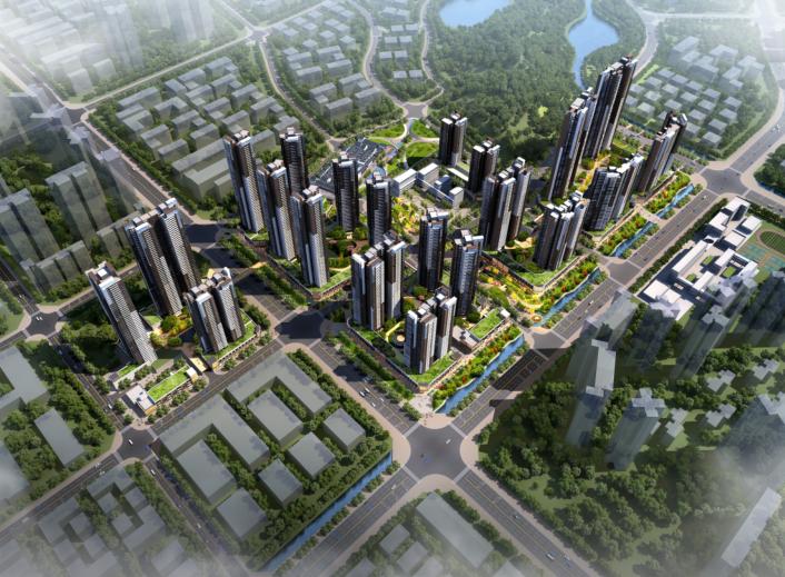 保达五联城市更新综合住区规划设计文本2016-鸟瞰图