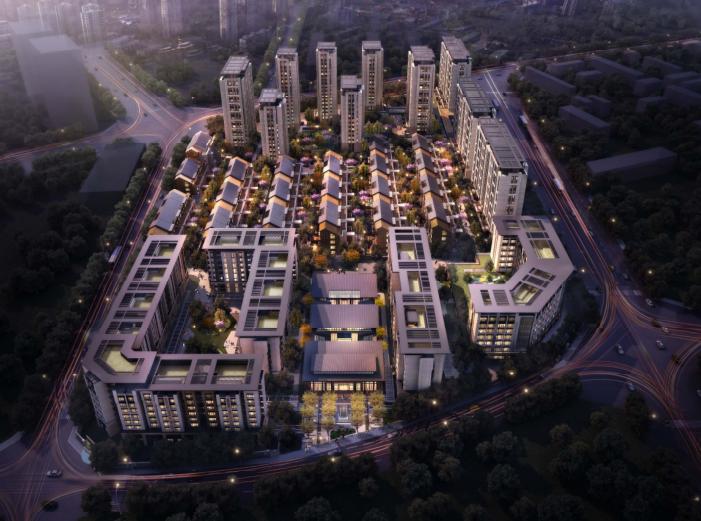 [北京]旧宫镇低密度公园豪宅社区方案文本-鸟瞰图