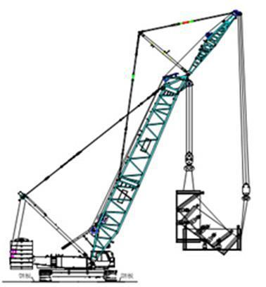 隧道开挖盾构施工方案-盾构机翻身吊装图
