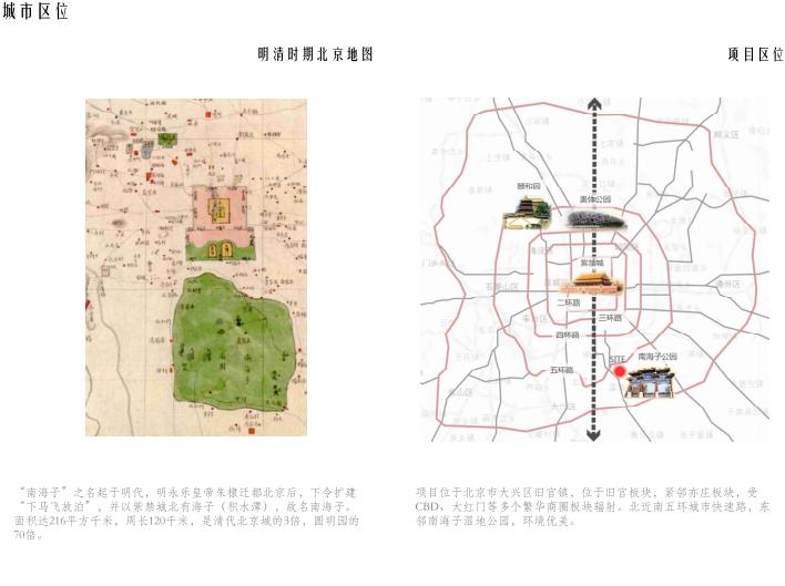 [北京]旧宫镇低密度公园豪宅社区方案文本-城市区位