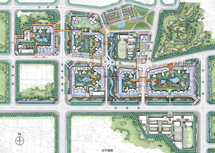 保达五联城市更新综合住区规划设计文本2016-总平面图