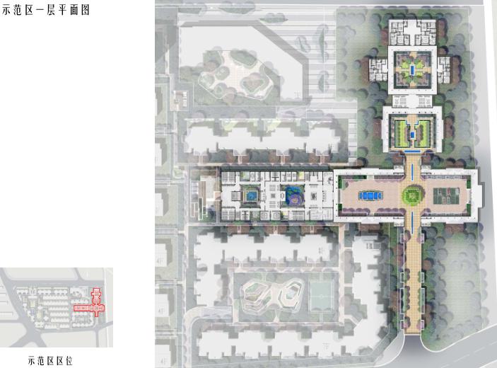 [北京]旧宫镇低密度公园豪宅社区方案文本-示范区一层平面图