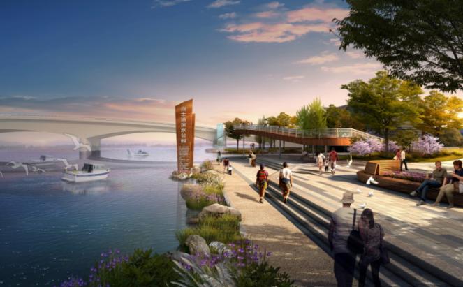 一键下载_10套三年内滨水休闲景观方案合集-[江苏]白士浦河自然生态滨水景观方案设计