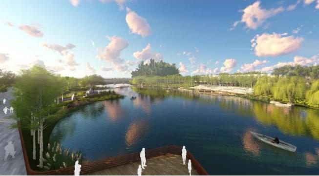 一键下载_10套三年内滨水休闲景观方案合集-[山东]烟台生态河道滨河公园景观设计方案